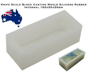 Knife Scale Block Casting Mould Silicone Rubber 150x50x50mm Epoxy Resin