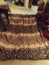 Lovely Pink & brown patterned Body Pillow/ comforter combo.