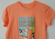 ARMANI EXCHANGE Stunning Designer DIAMANTE T Shirt Top - SMALL - UNWORN - A/X AX