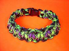"550 ParaCord Survival Cobra Braided Bracelet - Decay & Zombie Colored Fit 7 5/8"""
