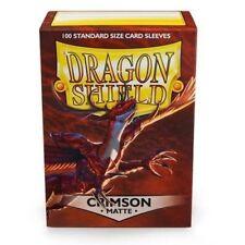 Dragon Shield Standard Size Card matte Sleeves Crimson Magic Pokemon 100ct box