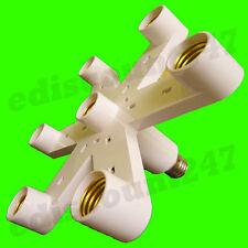 Certificado por la CE es E27 a 7 E27 Adaptador Divisor Lámpara de luz LED titular vendedor del Reino Unido.