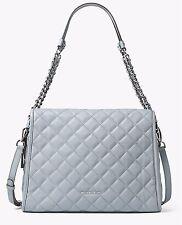 Michael Kors Tasche/Bag RACHEL XL SATCHEL QUILITED Leder Dusty Blue NEU!