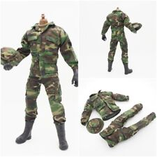"1/6 Scale Camouflage Uniform Jacket Pants Hat Military For 12"" Action Figure UK"