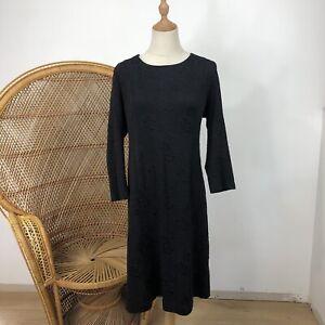 Perri Cutten Dress Size 16 XL Made In Australia Black Corporate Career Cocktail