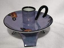 ART DECO NORITAKI MORIMURA BLUE LUSTER CANDLE HOLDER 1920-1940's
