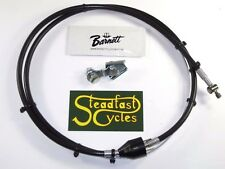 "45"" Brake cable w switch Front Triumph 1969 70 71 T120 TR6 T100 short cafe racer"