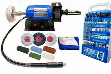 Mini Metal Polishing Machine / Polisher Kit (Variable Speed) c/w Accessory Set