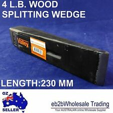 4 LB WOOD LOGS SPLITTING WEDGE Firewood FIRE SPLIT LOG STEEL SOLID VALLEY