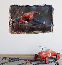 Spiderman Smashed 3D Wall Decal Sticker Mural Bedroom Art Decor Vinyl DA143