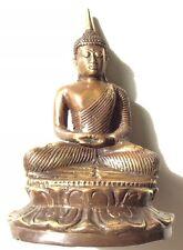 Bronze Seated Buddha Pure Bronze Statue Figure