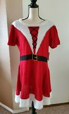 Just Found Santa Sweater Dress & Hat Christmas Holiday Plus Size 1X NWT