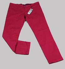 Tommy Hilfiger Tailored Jeans Hose Chino William rot Baumwolle Stretch Grösse 27