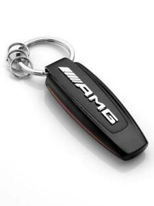 Genuine MERCEDES AMG Keyring Keychain Black/Silver/Red B66953338