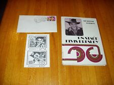 Elvis Presley Lot of 3: Official Ballot; On Stage Book; Cancelled postage stamp