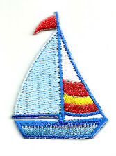 Sailboat - Sailing - Embroidered Iron On Applique Patch