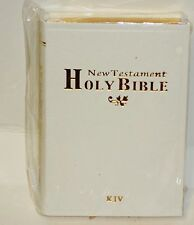 1 New Holy Bible New Testament KJV Small Pocket Or Purse Size WHITE NIP