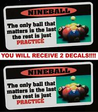 Practice decal for Billiards pool table