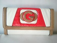 GUESS FEDORA PYTHON-EMBOSSED  PINK-MULTI check-book wallet  NWT 100% authentic