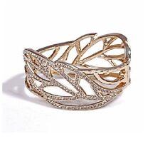 B201 Betsey Johnson Wedding Accessories Crystal Leaf Brides Bangle Bracelet  US