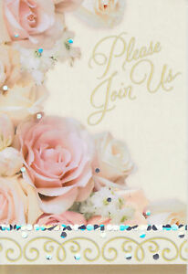 ROMANTIC ROSES INVITIATIONS Wedding Anniversary Shower Engagement Party Fill-In
