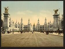 Avenue Nicholas II ESPOSIZIONE UNIVERSALE 1900 Parigi A4 FOTO STAMPA