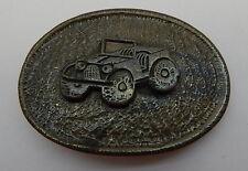 Vintage Metal Belt Buckle Off Road Vehicle R11609