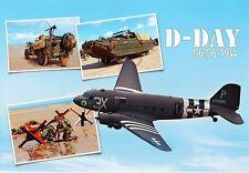 WW2 - CP - DC 3 et véhicules de débarquement