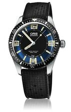 NEW ORIS HERITAGE DIVERS SIXTY-FIVE DARK BLUE DIAL BLACK RUBBER 733 7707 4035