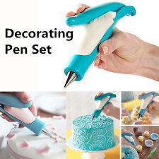 Pastry Icing Piping Bag Nozzle Fondant Cake Craft Decor Pen Set Baking Accessory