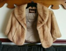 Kindig, Ny Pastel Mink *Real* Fur Capelet - Light Brown Tan Stole - Orig. $2000