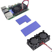 Kühler-Kühlkörper-Kits mit doppeltem Lüfter für Raspberry Pi 4BRSDE