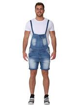 Homme - Salopette Short  Détail d'abrasion salopette short en jean