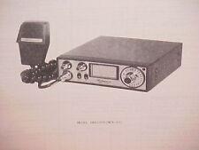 1977 SHAKESPEARE CB RADIO SERVICE SHOP MANUAL MODEL GBS2000