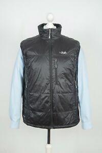 Mens Rab Generator Primaloft Zip Black Vest Outdoor Gilet Size XL