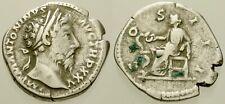 010. Roman Silver Coin. MARCUS AURELIUS, AR Denarius. Rome. Mars. aVF