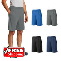 Mens Sport-Tek Competitor Pocket Shorts Dry Wicking Workout Training Run ST355P