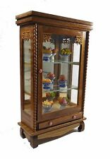 Vintage Cabinet Small Storage Wood Furniture Bathroom Curio Teak Box Drawer Door