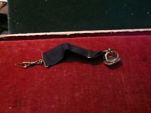 Antique seal / fob . From a pocket watch . Black ribbon & watch clip.