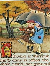 Mary Engelbreit Handmade Magnet - A Friend Is The First One