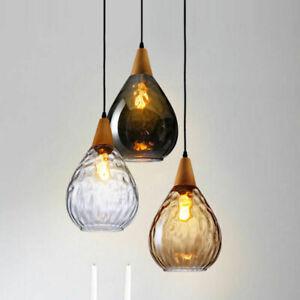 Modern Φ16cm Industrial Vintage Loft Glass Pendant Lamp Restaurant Chandelier