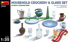 Miniart 35559 Household Crockery and Glass Set (Building and Accessories) 1/35