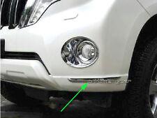 Chrome Front Corner Bumper Trim Garnish Protector for Toyota Prado 150 2014-2017
