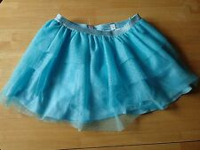 Justice Girls Size 16 Aqua Blue Sparkle Skirt with Shorts