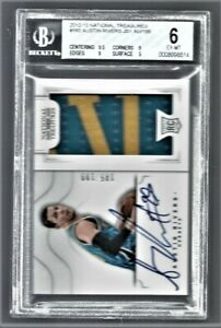 2012 National Treasures Auto Austin Rivers Hornets #160 Rookie BGS 6 #0008998514