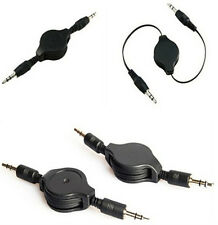 HS68 Cable New Sell Black Aux Retractable Auxiliary Cord For iPod Car MP3 ONE
