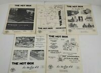 The Hit Box Model Railroad Bulletin Newsletter Lot Of 5 1974 1975