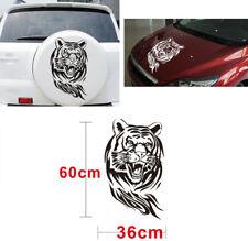 Car Auto Jeep Body Sides Trunk Hood Decor Tiger Pattern Sticker Black Waterproof