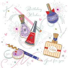 Girly Make Up Birthday Wishes Greeting Card By Talking Pictures Cards