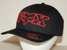 Fox Racing Flexfit Cap / Hat NEW  L/XL or S/M Black / Red MX